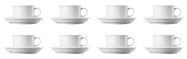 8 x Kaffeetasse 2-tlg. - Trend Weiß - Thomas - 11400-800001-14740