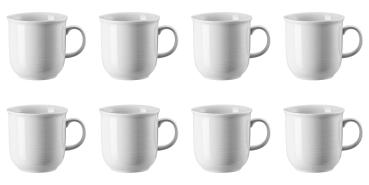8 x Becher mit Henkel groß - Trend Weiß - Thomas - 11400-800001-15571