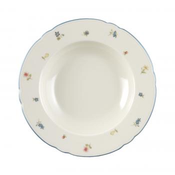 24 x Suppenteller rund 23 cm - Seltmann Weiden Marieluise elfenbein Streublume 30308