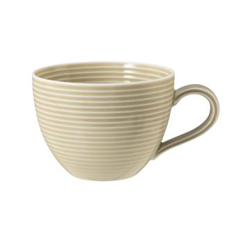 6 x Kaffeeobertasse 0,26 l mit Relief - Seltmann Weiden Beat Sandbeige
