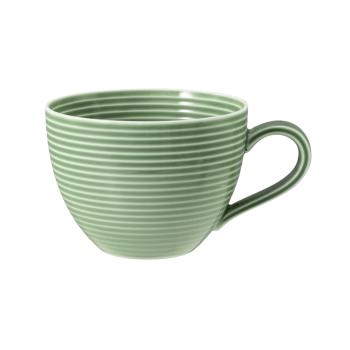 Kaffeeobertasse 0,26 l mit Relief - Seltmann Weiden Beat Salbeigrün