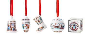 Glocke + Zapfen + Stiefel + Kugel + Licht 2020 Weihnachtsbäckerei - Hutschenreuther - Porzellan Weihnachten