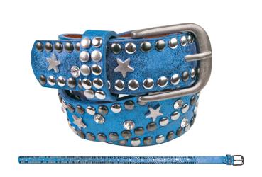 Gürtel Nieten & Stern blau 65 cm - bb-Klostermann 22507 - Kindergürtel