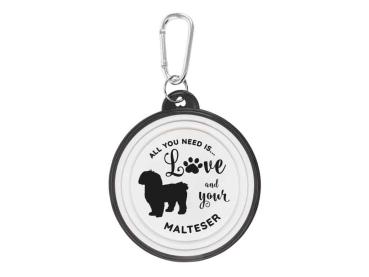 Hundenapf Malteser Walkies by bb-Klostermann - Faltbarer Hundenapf to go