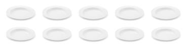 10 x Suppenteller 23 cm - Jeverland Weiß - Friesland - 5909154011 - Pastateller Tiefer Teller