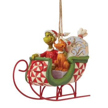Grinch & Max auf dem Schlitten (Der Grinch) - Walt Disney Christbaumschmuck