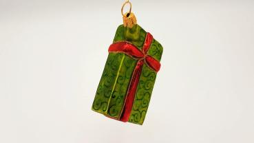 Geschenk grün - Hanco Design 2258.04 - Christbaumschmuck aus Glas