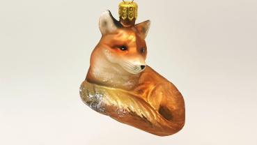 Fuchs liegend - Hanco Design 2411.01 - Christbaumschmuck aus Glas