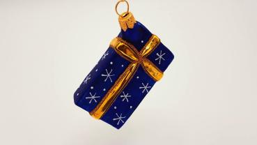 Geschenk blau-gold - Hanco Design 2258.06 - Christbaumschmuck aus Glas