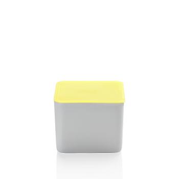 Frischebox 15 x 15 cm hoch + gelb - Arzberg Küchenfreunde / Kitchen Friends - 43330-609997-28470