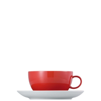 Cappuccinotasse 2-tlg. - Sunny Day New Red / Rot - Thomas - 10850-408525-14670