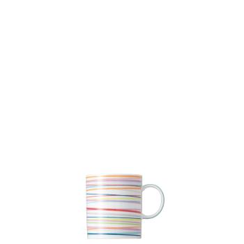 8 x Becher mit Henkel 0,3 l - Sunny Day Stripes / Streifen - Thomas - 10850-408715-15505 - Henkelbecher Mugge Humpen Haferl