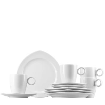 Set 12-tlg. eckige Teller & Henkelbecher - für 4 Personen - Vario Pure - Thomas - 11455-800001-28541