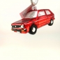 Preview: VW-Golf rot - Hanco Design 2633.01 - Christbaumschmuck aus Glas