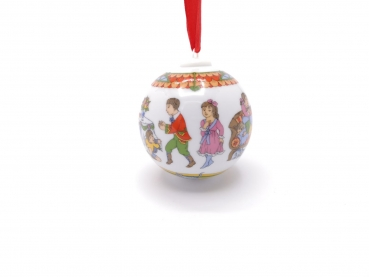 OHNE Verpackung Hutschenreuther Porzellankugel Weihnachtskugel 1999