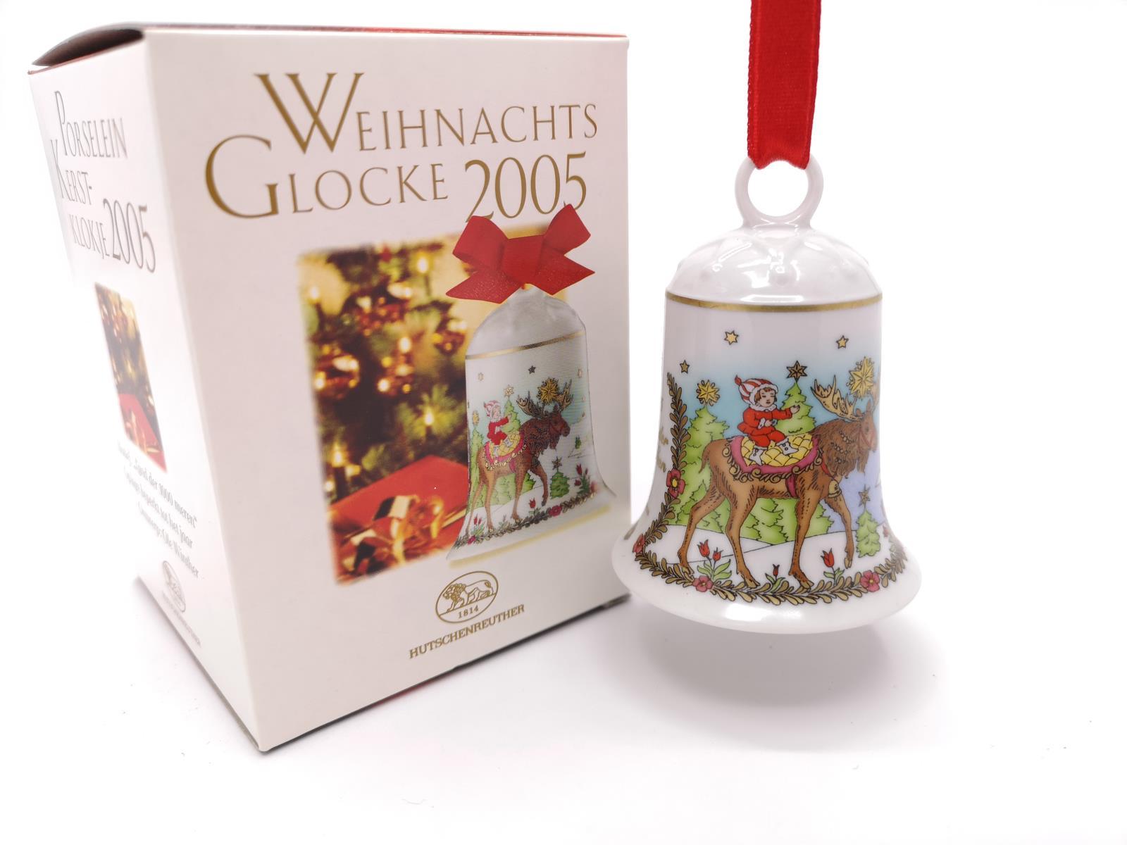 in OVP Hutschenreuther Porzellanglocke Weihnachtsglocke 2003