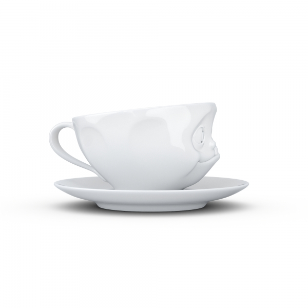 Tasse Lecker weiß - FIFTYEIGHT - 200 ml - Kaffeetasse Teetasse - T014601