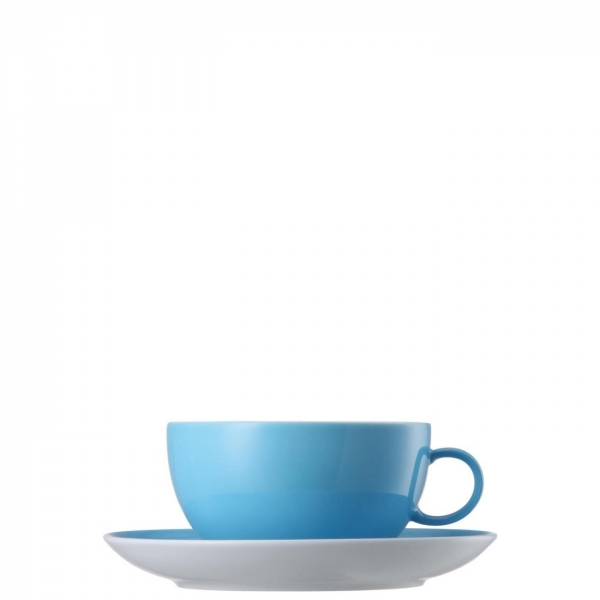 Cappuccinotasse 2-tlg. - Sunny Day Waterblue / Blau - Thomas - 10850-408530-14670